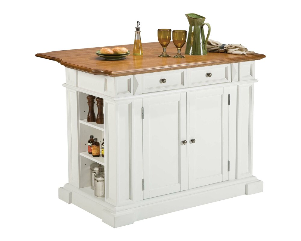 darby home co ehrhardt kitchen island & reviews | wayfair