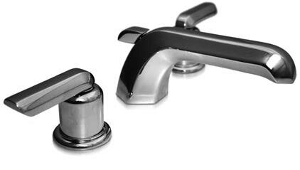 Bradford Lever Widespread Bathroom Faucet with Drain Assembly