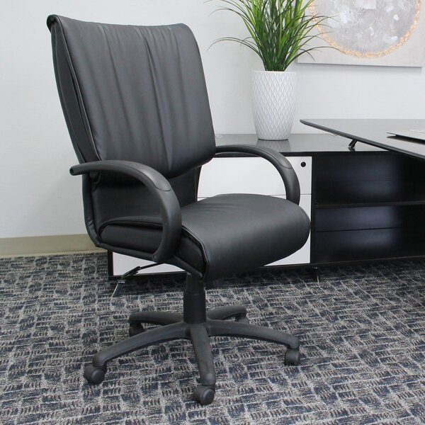 Albanese Leather Executive Chair by Latitude Run