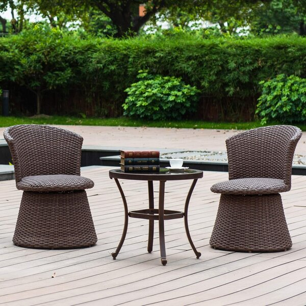 Linville 3 Piece Bistro Set (Set of 3)