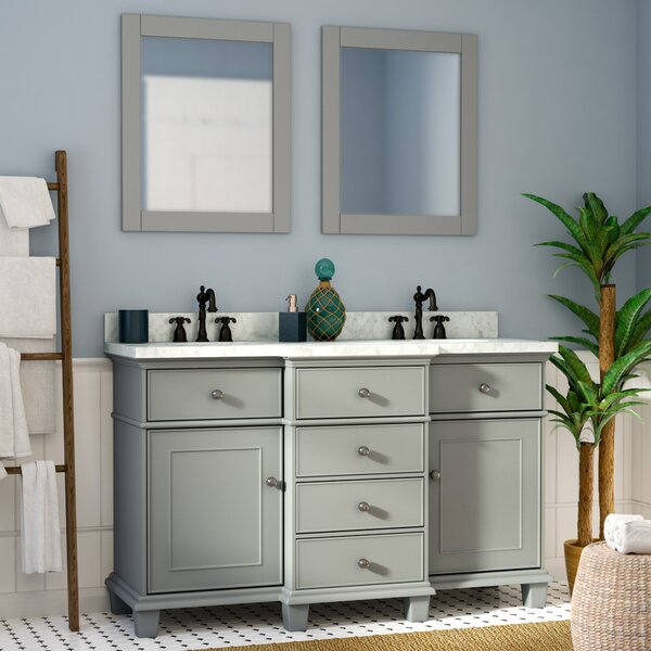 Hewish Solid Wood 61 Single Bathroom Vanity Set with Mirror by Alcott Hill