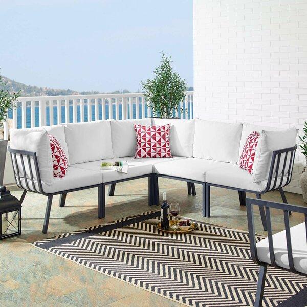 Montclaire Outdoor Patio Sectional with Cushions by Brayden Studio Brayden Studio