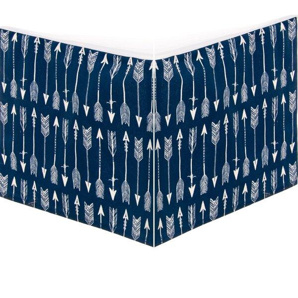 Camp River Rock Crib Skirt by Glenna Jean