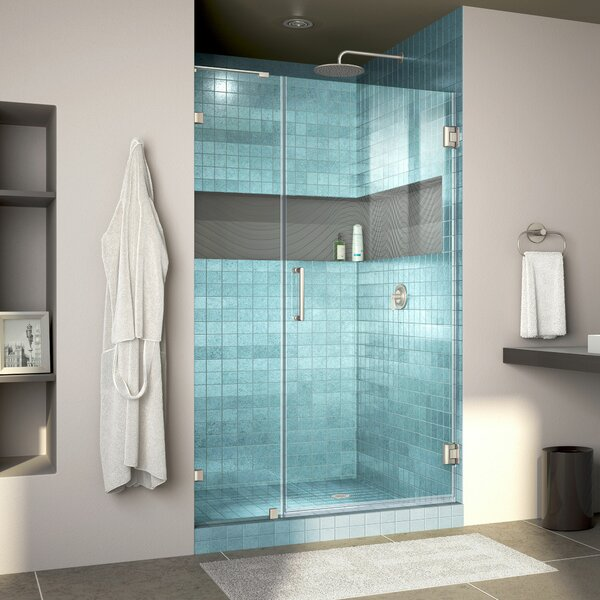 Unidoor Lux 41 x 72 Hinged Frameless Shower Door with Clearmax™ Technology by DreamLine