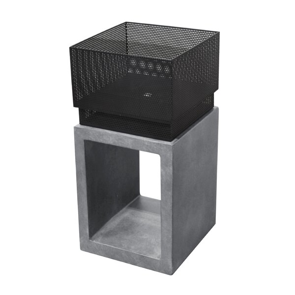 Sentinel Tall Steel Wood Burning Fire Pit by Astella
