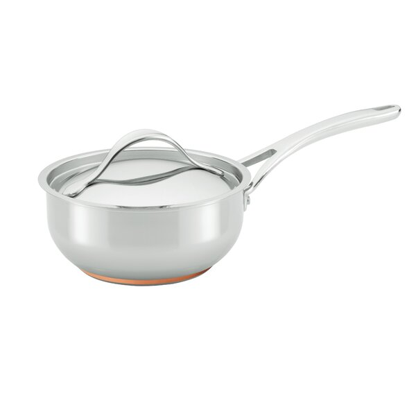 Nouvelle Copper Stainless Steel 2.5-qt. Saucier with Lid by Anolon