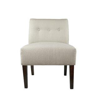 Brannan Button Tufted Slipper chair by Winston Porter