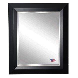 Brayden Studio Solid Black Angle Wall Mirror