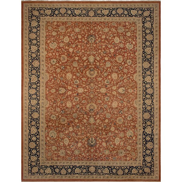Maly Vegetable-Dyed Hand-Knotted Wool Brown/Blue Area Rug by Astoria Grand