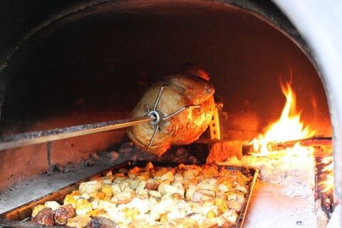 Spit/Rotisserie for Brick Oven by Authentic Pizza Ovens