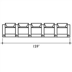 St. Tropez Home Theater Row Seating (Row Of 5) By Bass