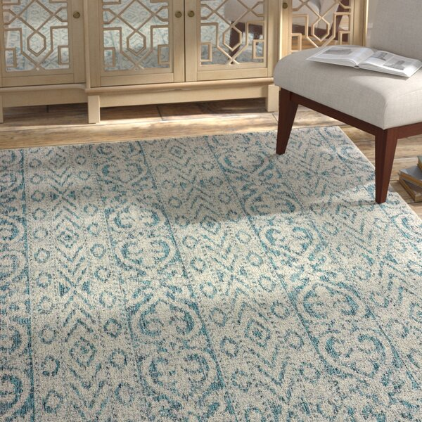 Dilip Blue Indoor/Outdoor Area Rug by Bungalow Rose