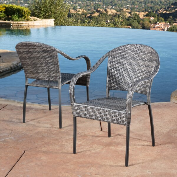 Georgie Stacking Patio Dining Chair (Set of 2) by Beachcrest Home