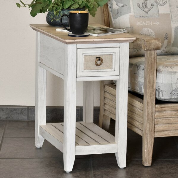 Juliet Island Chairside Table With Storage By Rosecliff Heights