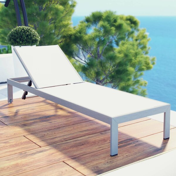 Coline Contemporary Outdoor Patio Chaise Lounge by Orren Ellis