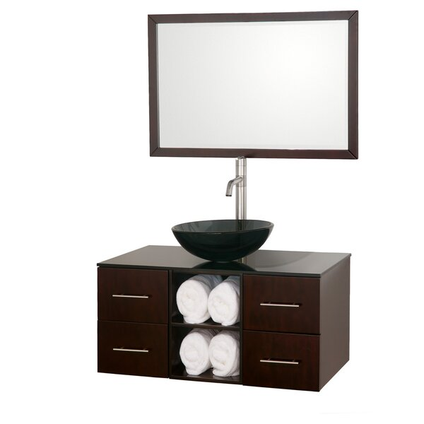 Abba 36 Single Bathroom Vanity Set with Mirror by Wyndham CollectionAbba 36 Single Bathroom Vanity Set with Mirror by Wyndham Collection