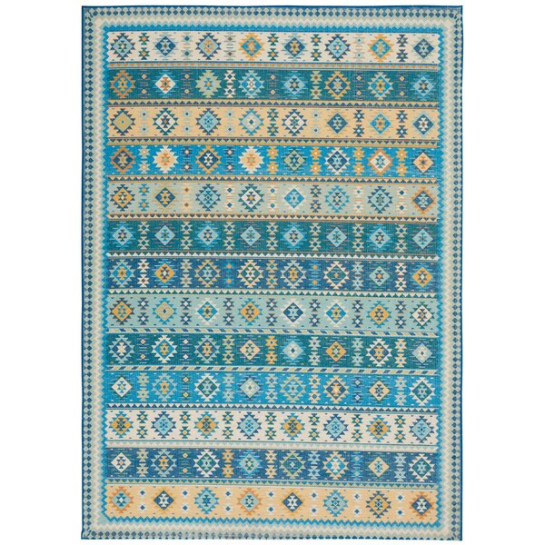 Union Point Moroccan Tribal Light Blue/Beige Area Rug by Bungalow Rose