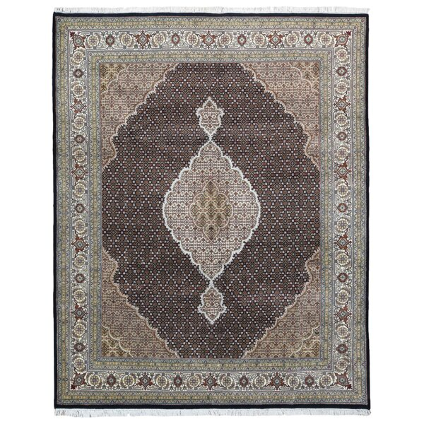 One-of-a-Kind Nishimura Mahi Oriental Hand-Knotted Beige/Olive Area Rug by Isabelline