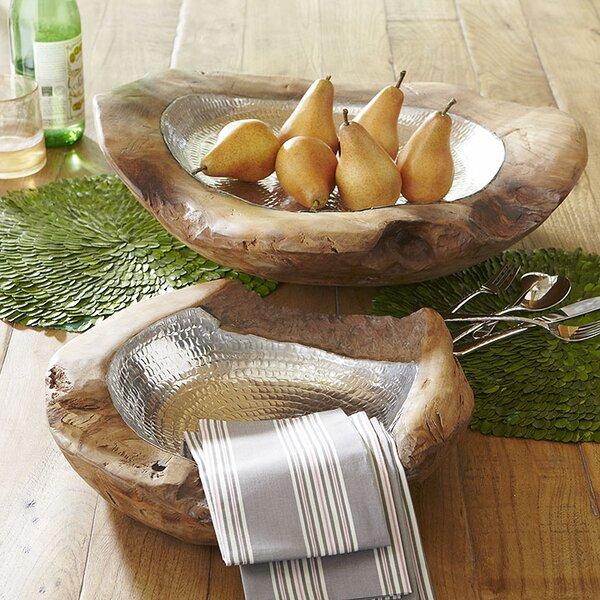 Teak & Aluminum Decorative Bowl by Birch Lane™