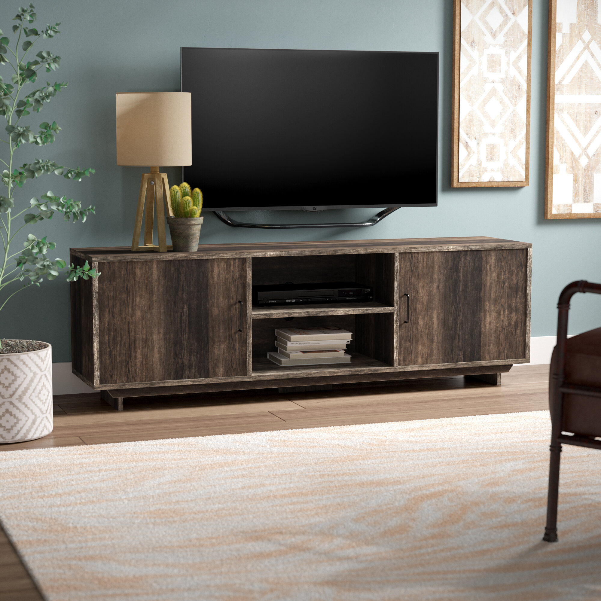 Union rustic lamy tv stand for tvs up to 65 reviews wayfair