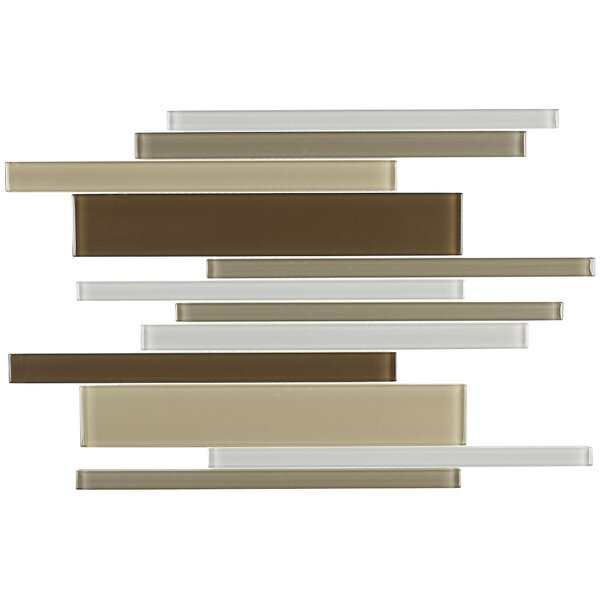 Geneva Random Sized Glass Mosaic Tile in Classic Downtown Oasis by Itona Tile