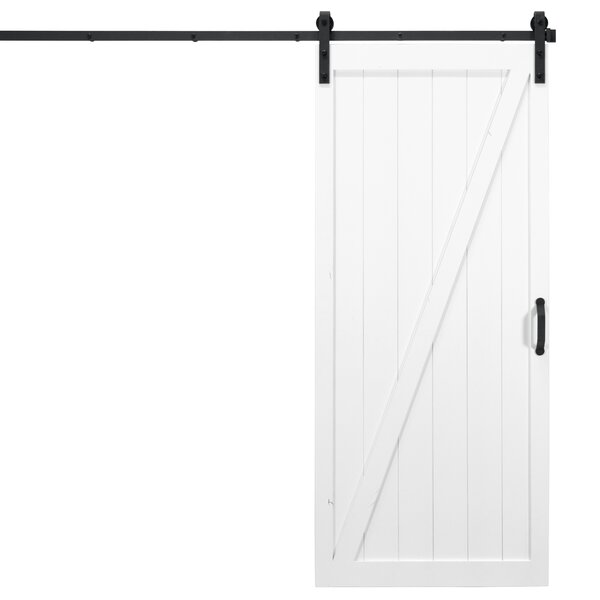 Classic Z Solid Panel Wood Slab Interior Barn Door