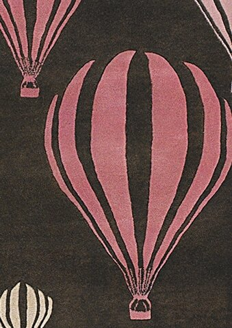 Caddy Balloon Pink/Brown Area Rug by Viv + Rae