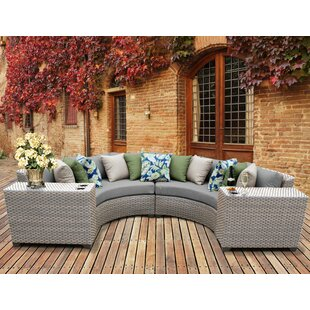 Florence 4 Piece Sectional Seating Group with Cushions By TK Classics