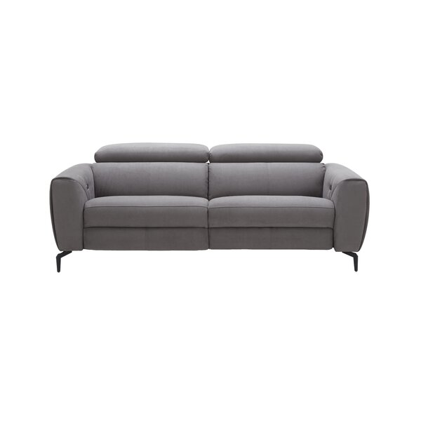 Nakale Leather Reclining Sofa by Orren Ellis