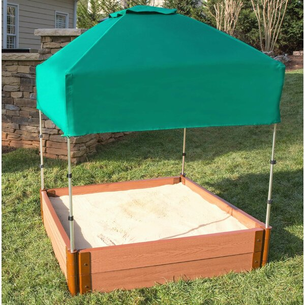 Can-it-be Telescoping 4 ft. W Square Sandbox with Cover by Frame It All