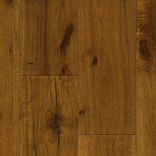 7-1/2 Engineered Hickory Hardwood Flooring in Deep Etched Buffalo Cream by Armstrong Flooring