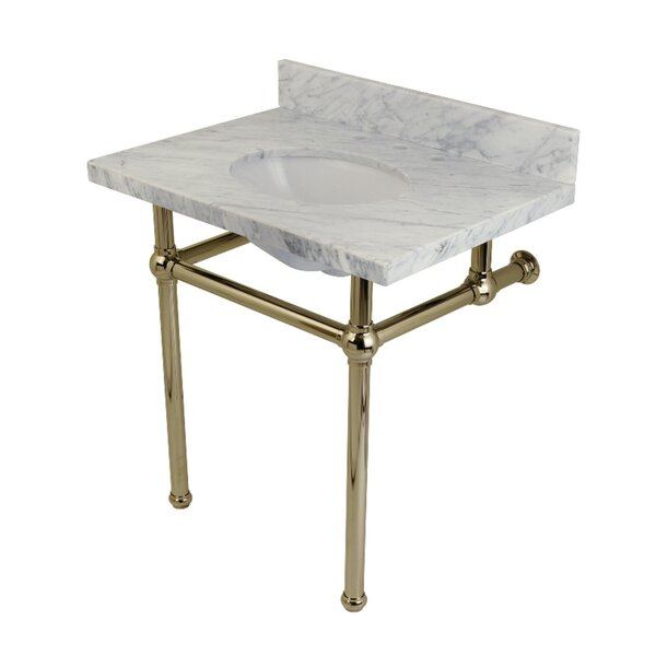 Templeton Marble Rectangular Undermount Bathroom Sink with Overflow by Kingston Brass