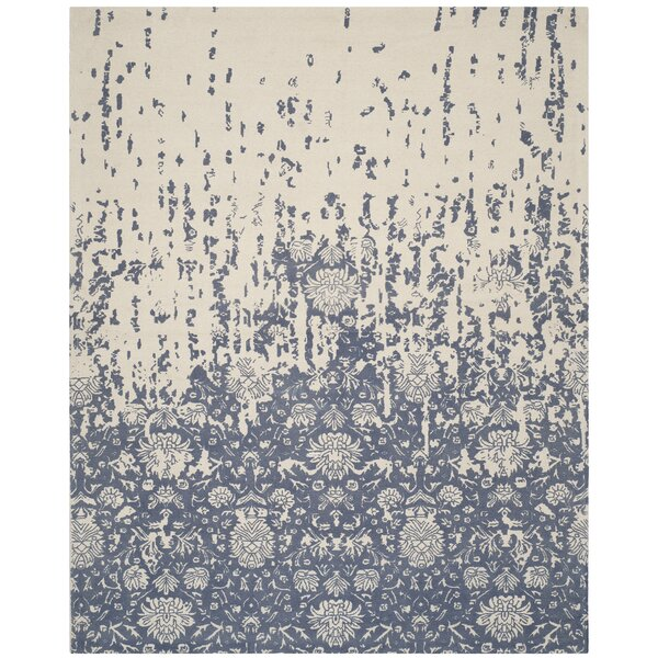 Ellicottville Hand-Tufted Ivory/Blue Area Rug by Ophelia & Co.