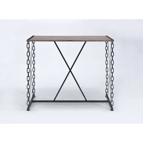 Callis Industrial Rectangular Wood and Metal Pub Table by Williston Forge