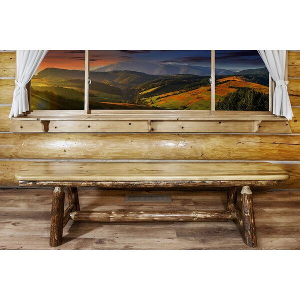 Tustin Plank Wood Bench by Loon Peak