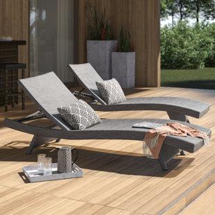Remarkable Rebello Sun Lounger Set Set Of 2 Creativecarmelina Interior Chair Design Creativecarmelinacom