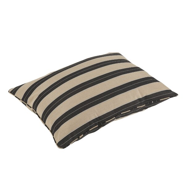 Barrelli Stripe Piped Indoor/Outdoor Sunbrella Floor Pillow by Darby Home Co