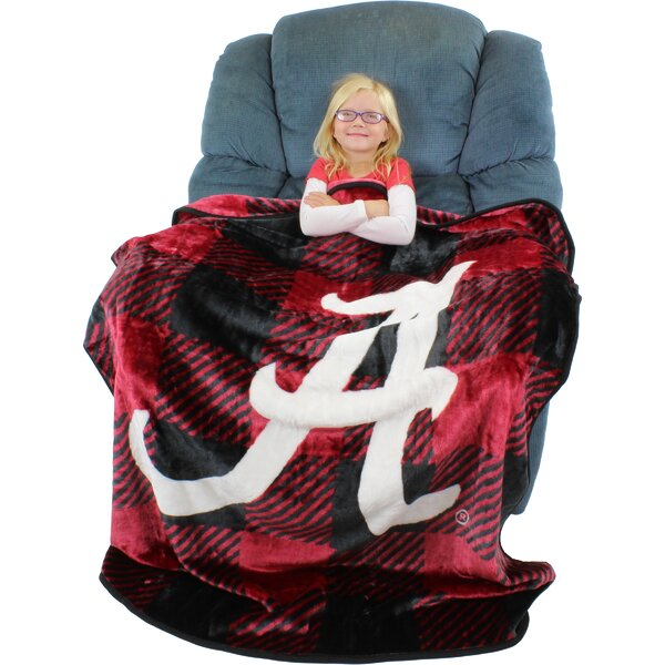 Alabama Crimson Tide Plaid Throw Blanket by College Covers