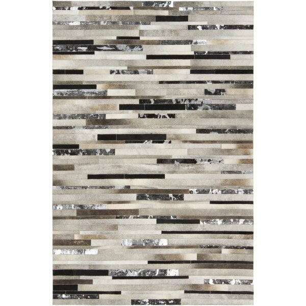 Losey Hand Woven Cowhide Gray Area Rug by Trent Austin Design