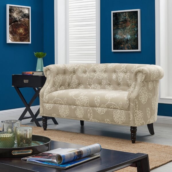 Nice Classy Quinones Chesterfield Loveseat Can't Miss Bargains on