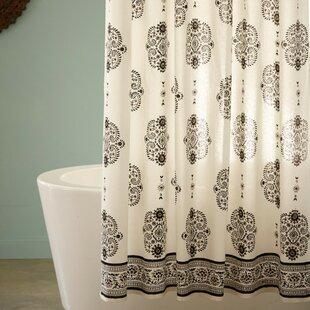 Mirror Paisley Cotton Shower Curtain