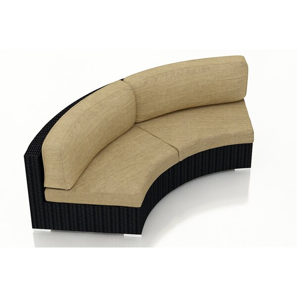 Azariah Curved Loveseat with Cushions by Orren Ellis