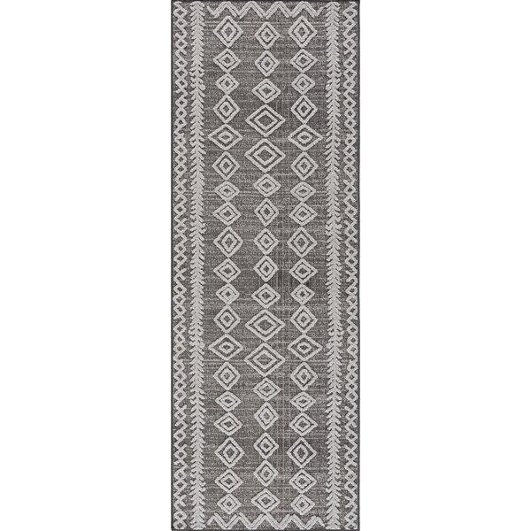 Sybil Power Loom Gray/White Rug