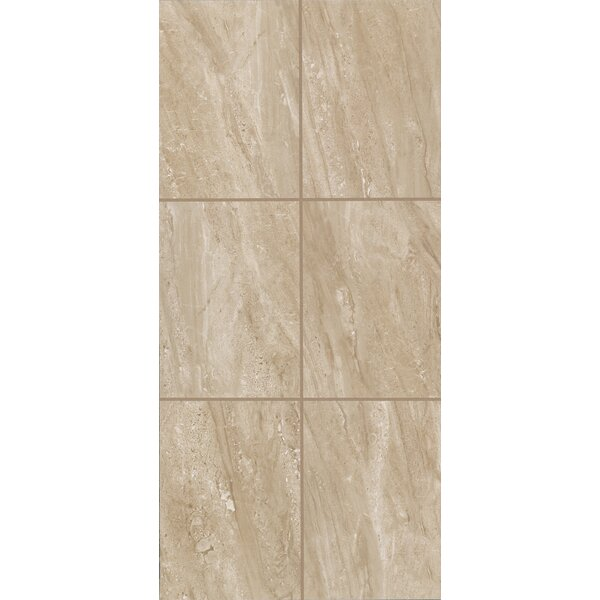 Bradwell 12 x 24 Ceramic Filed Tile in Nocino Travertine by Mohawk Flooring