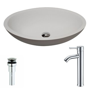 Reviews Maine Stone Oval Vessel Bathroom Sink with Faucet By ANZZI