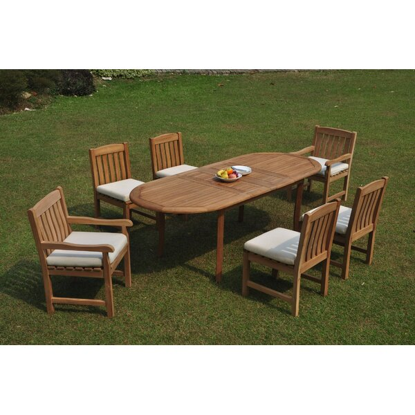 Eaman 7 Piece Teak Dining Set by Rosecliff Heights