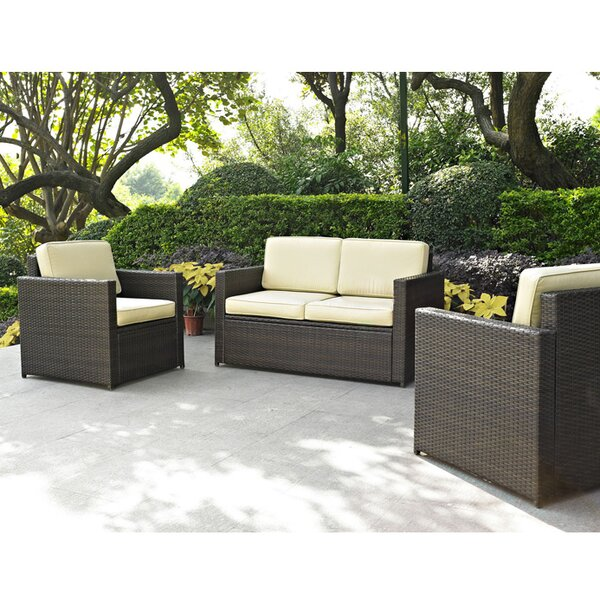 Belton 3 Piece Sofa Set with Cushions by Mercury Row