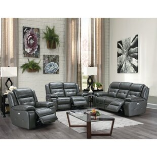 Celise Leather Reclining Configurable Living Room Set by Red Barrel Studio®