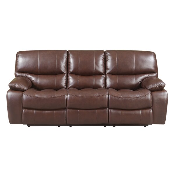Ledoux Leather Reclining Sofa by Red Barrel Studio