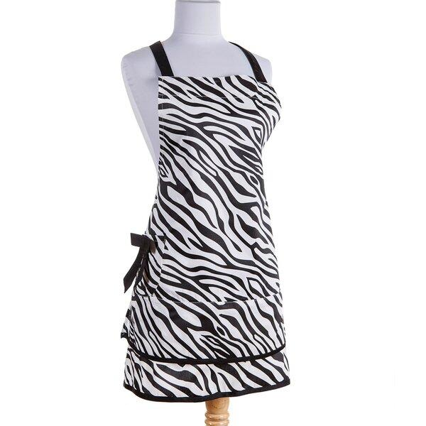 Zebra Apron in Black by Sin In Linen